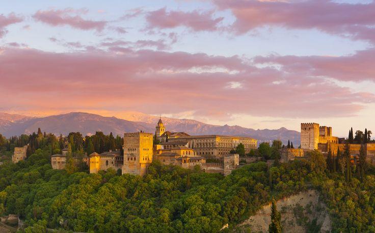 Puesta de sol la Alhambra desde Mirador de San Nicolás