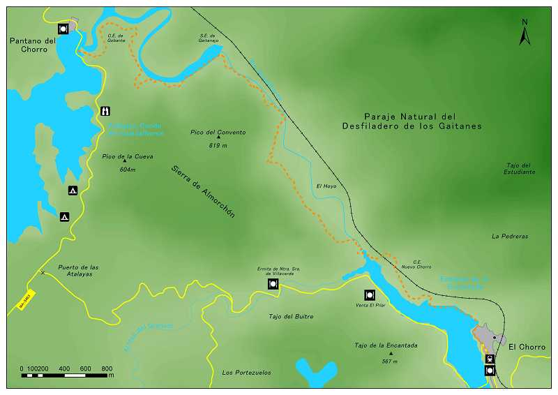 Mapa Caminito del Rey